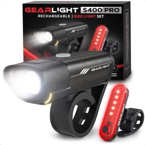 GearLight Rechargeable Bike Light Set S400
